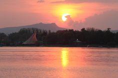Sonnenuntergang Konzertsegel Radolfzell Hegau