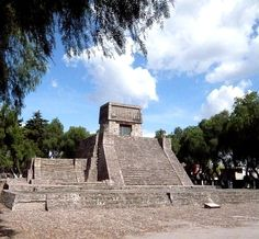 "The Aztec Pyramid at St. Cecilia Acatitlan, Mexico State. The Aztec people were certain ethnic groups of central Mexico, particularly those groups who spoke the Nahuatl language and who dominated large parts of Mesoamerica from the 14th to 16th centuries. ""Aztec"" (Nahuatl pronunciation: [astekaʔ]) is the Nahuatl word for ""people from Aztlan"",[1] a mythological place for the Nahuatl-speaking culture of the time, and later adopted as the word to define the Mexica people."