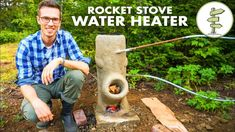 Brilliant DIY Off-Grid Water Heater Using a Rocket Stove – No Propane! (could be good for off-grid tiny house) Rocket Stove Water Heater, Diy Rocket Stove, Solar Water Heater, Rocket Stoves, Pool Heater, Water Heating, Solar Energy Panels, Best Solar Panels, Solar Energy System