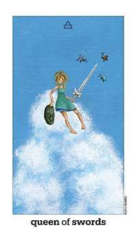 Queen of Swords Tarot Card - Sun and Moon Tarot Deck