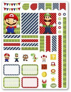 Mario Decorating Kit PDF PRINTABLE Planner Stickers