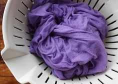 natural dyeing -- red cabbage