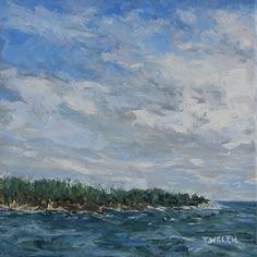 Sky Clearing 10 x 10 inch oil on canvas with option wood frame by Terrill Welch