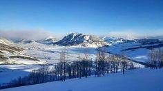 Gunnison valley, mountain in center in Mt. Crested Butte.