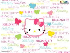Colorful Hello Kitty Alphabet Wallpaper | Hello Kitty Wallpapers