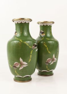 Chinese Cloisonne Vases.
