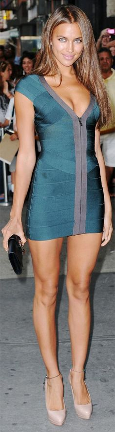 Real and taupe mini dress