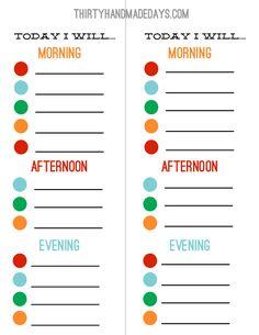 Laminated chore chart for kids. Use as a lanyard with dry erase markers. Printable Chore Chart, Chore Chart Kids, Free Printables, Chore Charts, Goal Charts, Binder Organization, School Organization, Organizing, Chore List