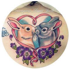 Tattoo by Georgina Jurd, bunny tattoo