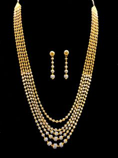 22k yellow gold necklace set (8003)