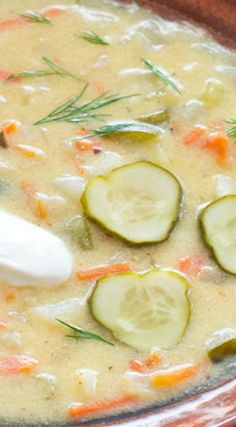 Delicious Dill Pickle Soup in 15 Minutes. I love soups but never heard of this one.