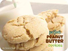 The perfect soft and chewy peanut butter cookie recipe | SixSistersStuff.com