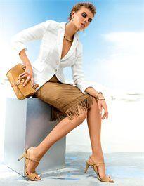 Sandalette aus Veloursleder mit Pfennigabsatz #madeleinefashion