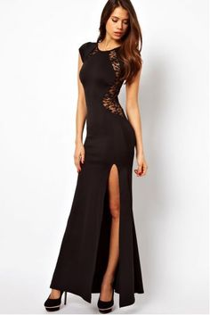 Cheap split dress, Buy Quality long dress directly from China dress dress dress Suppliers: Women Formal Evening Gowns Mermaid Bride Long Lace Hollow-out Front Split Dress,Wedding Party Prom Gown Vestidos Maxi Dress With Slit, Lace Dress, Bodycon Dress, Tulle Lace, Lace Bodice, Buy Dress, Long Mermaid Dress, Casual Dresses, Fashion Dresses