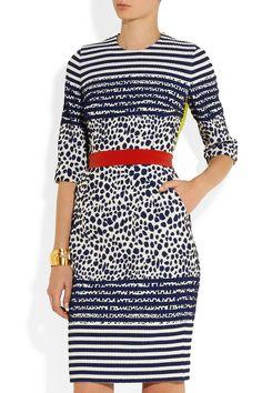 Preen by Thornton Bregazzi Stryder paneled stretch-jacquard dress NET-A-PORTER.COM
