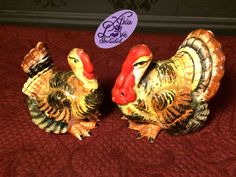 Vintage Ceramic Turkey Salt and Pepper Shakers Made in Japan by XtraLoveIncluded on Etsy
