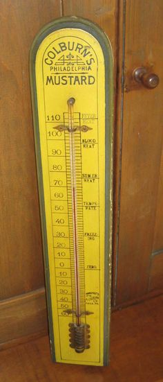 Antique Advertising Thermometer Colburn's by NorthWoodsShop, $119.00