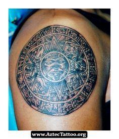 Aztec Tattoo Sun 07 - http://aztectattoo.org/aztec-tattoo-sun-07/