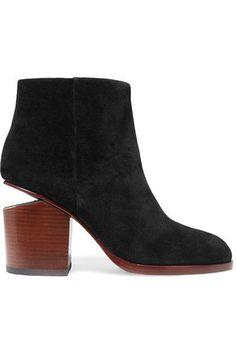 Alexander Wang - Gabi Cutout Suede Ankle Boots - Black - IT37.5