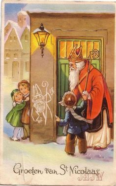Vintage Postcard Vintage Greeting Cards, Vintage Christmas Cards, Vintage Ephemera, Vintage Holiday, Christmas Greeting Cards, Vintage Postcards, Holiday Cards, Father Christmas, Winter Christmas