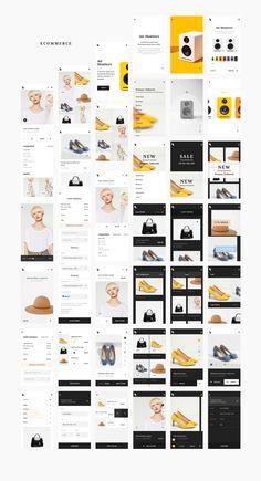 Introducing Bolt New and improved, this huge UI Kit is geared to optimize… Web Design Jobs, Ecommerce Web Design, Web Ui Design, Design Thinking Process, App Design Inspiration, Mobile Ui Design, Bolt 2, Mobile App Ui, Ui Kit