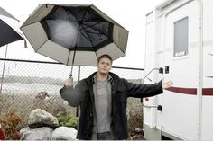 Dude, it's raining and the scene is still going to shoot. Ya want a candid.