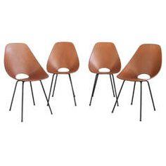 Four Medea Chairs by Vittorio Nobili