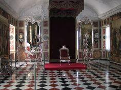Throne of King Christian VI, Throne Room of Rosenberg Castle, Denmark (1740).