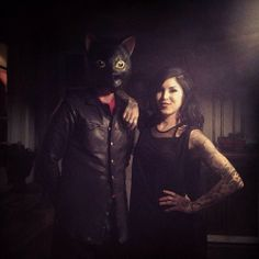 Kathy and the mysterious cat people from the planet Catonia. @Kat Von D jeffdraw [April 21st, 2014 via Nate] Kat von D