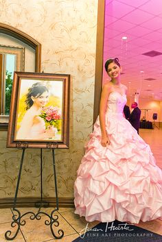 Muy Bonita. We <3 this Quinceañera photo idea. It's lovely. \\ Photo Credit: Juan Huerta Photography #pink #Quinceanera