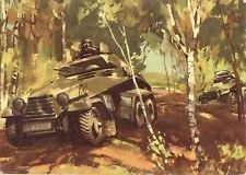 Panzerspähwagen. Postcard by Viktor Mundorff.