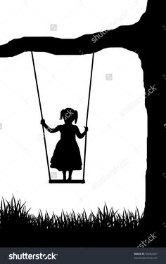 Immagine vettoriale stock 55682467 a tema Girl On Swing Vector (royalty free) Cricut Explore, Royalty, Free, Cakes, Google, Poster, Royals, Cake Makers, Kuchen