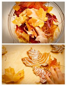 Did you know you can Mod Podge Fall leaves to preserve them?