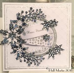Phills' Crafty Place: Midnight Blue Happy Christmas - Giveaway Card