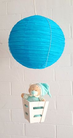 Lampshades – Hanging children lamp hot air balloon/ decoration – a unique product by SweetLittleTreasures-Galya on DaWanda