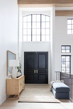 Christine Andrew from Hello Fashion shares her two day transformation of her entry way with Studio McGee and full details on all the home decor products. House Design, House, Interior, Home, Modern House, Building A House, House Inspiration, Studio Mcgee, House Interior