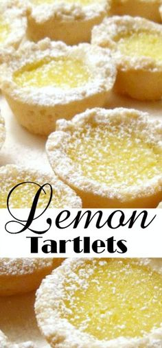 Easy recipe for Lemon Tartlets. Delicious little cookies filled with a sweet lem… Easy recipe for Lemon Tartlets. Delicious little cookies filled with a sweet lemony center are perfect for Christmas or with tea as a dessert. Lemon Dessert Recipes, Lemon Recipes, Tart Recipes, Baking Recipes, Cookie Recipes, Lemon Tarte Recipe, Recipes For Lemons, Simple Recipes, Drink Recipes