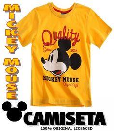 Mickey Mouse Disney Camiseta Niño Quality Raton Dibujos Television New - Bekiro