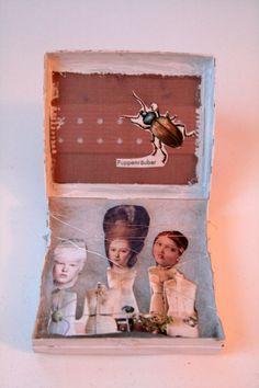 Collage in der Box #1; Projekt 2014,  Größe 9x8cm