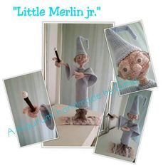 """Little Merlin"" design and pattern by Ginia Mees"