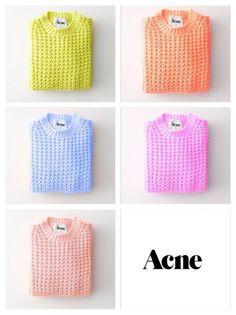 Acne sweaters//今すぐ着たいカラフルニット!on ShopStyle(ショップスタイル)