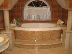 #ODJECHANAłazienka W Hotel, Corner Bathtub, Retro, Retro Illustration, Corner Tub