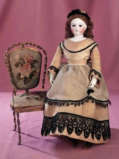 A Cherished Collection - Madame Andrée Petyt: 197 Beautiful Early French Bisque Poupee with Bisque Hands and Dehors Head Depose