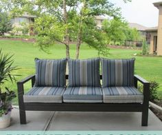 DIY Outdoor Couch made from 2x4's