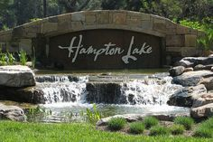 subdivision entry signs with a water feature - Google Search
