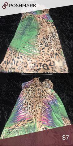 SALE!!! Leopard print dress Leopard print dress. Very fun and flowing dress. Dresses