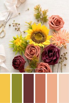 Color palettes and color inspiration for wedding. Color Schemes Colour Palettes, Fall Color Palette, Colour Pallette, Color Palate, Color Combos, Fall Color Schemes, Color Schemes With Gray, Summer Color Palettes, Rustic Color Palettes