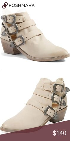 DOLCE VITA Spur Booties NWT! Edgy western-inspired cutout booties in nubuck leather. Dolce Vita Shoes Ankle Boots & Booties