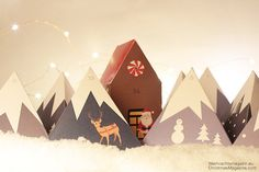 Advent Calendar Mountain Range Countdown to Christmas by CallaD
