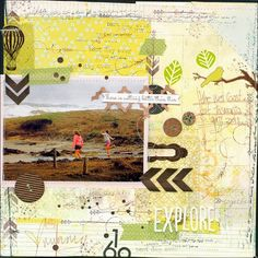 scrapbooking of leeann pearce: how to...collage backgrounds! Tutorial